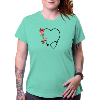 Tričko Stetoskop ve tvaru srdce