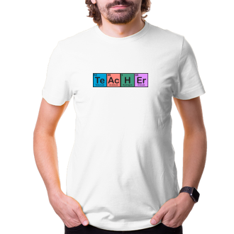 Učitelé Tričko Učitel Chemik