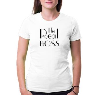 Pro páry Tričko The Real Boss
