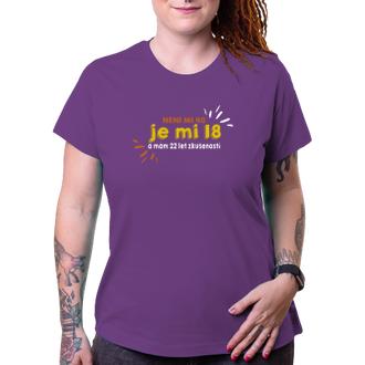 K narozeninám Dámské triko Není mi 40