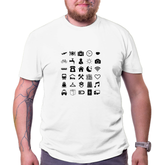 Cestování Cestovatelské tričko Piktogram
