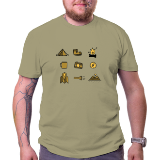 Cestování Turistické tričko Piktogram