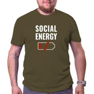 Humor Tričko Social energy