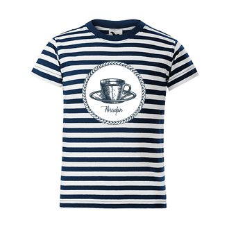 Pruhované tričko Porculán