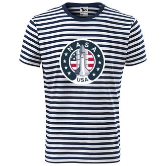 Geek Pruhované tričko Nasa