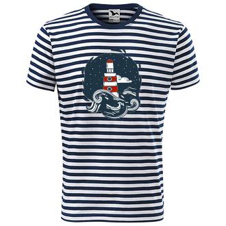 Vodáci Pruhované tričko Maják