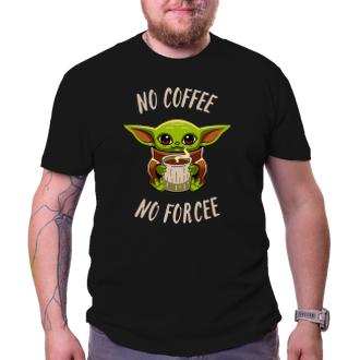 Vtipné tričko Yoda coffee