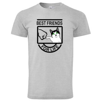 Zvířata Tričko Kočka - přítel