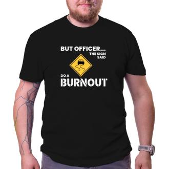 Auta a motorky Tričko Burnout