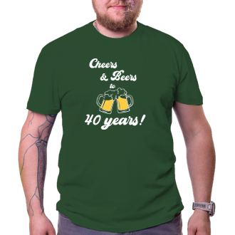 K narozeninám Tričko Cheers & Beers
