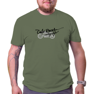 Auta a motorky Vintage tričko Café Racer