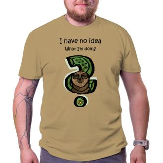 Vtipná trička Pánské tričko s lenochodem