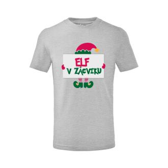 Vánoce Dětské tričko Elf v zácviku