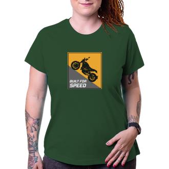 Auta a motorky Dámské motorkářské tričko Speed