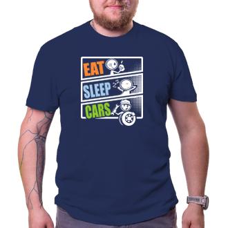 Auta a motorky Tričko Eat Sleep Cars