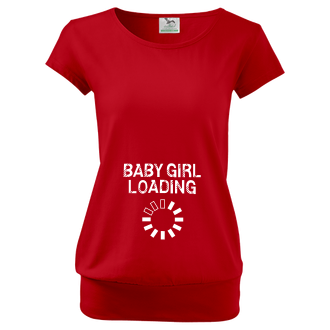 Pro těhotné Tričko Baby girl loading