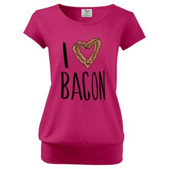 Pro těhotné Tričko I love bacon