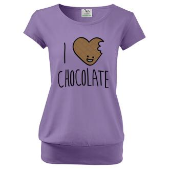 Pro těhotné Dámské tričko I love chocolate