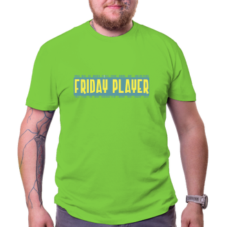 Triko Friday player - zelenožlutá