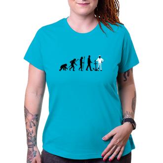 Vodáci Dámské tričko Evoluce vodačky