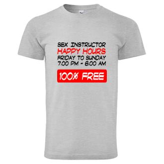 Sex Tričko Sex instructor - happy hours