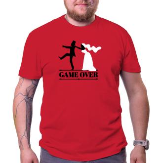 Svatební Pánské tričko Game over