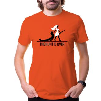 Svatební Pánské tričko The hunt is over