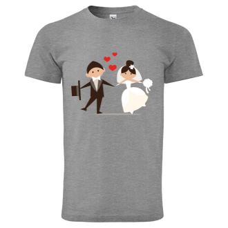 Svatební Pánské tričko Ženich a nevěsta