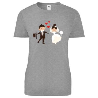 Svatební Dámské triko Nevěsta s ženichem