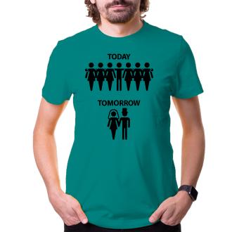 Rozlučka se svobodou Vtipné tričko pro ženichy Dnes - zítra