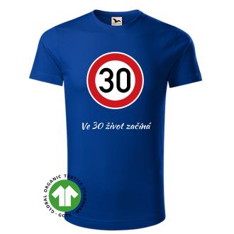 K narozeninám Pánské tričko Kulatá 30