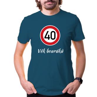 K narozeninám Tričko Kulatá 40