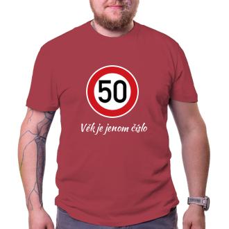 K narozeninám Pánské narozeninové tričko Kulatá 50