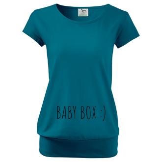 Pro těhotné Dámské tričko Baby box