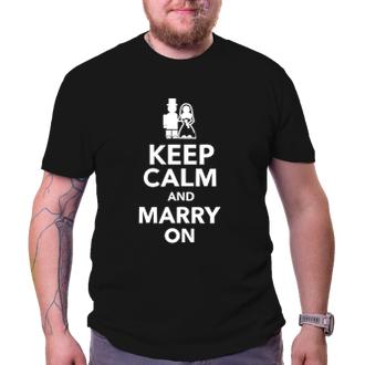 Svatební Tričko na rozlučku Keep calm and marry on