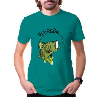 Rybáři Rybářské tričko Fish or die