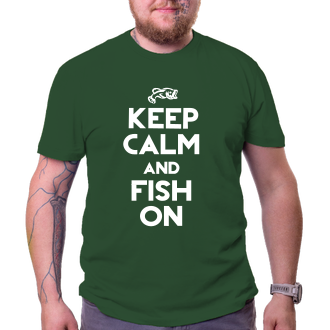 Rybáři Rybářské tričko Keep calm and fish on
