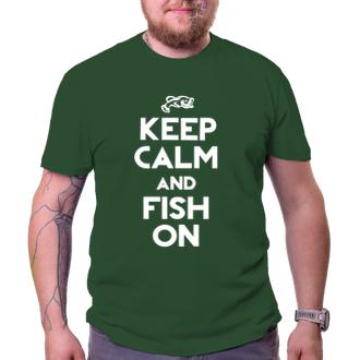 Rybáři Rybářské tričko Keep calm and fish on