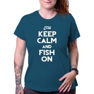 Rybáři Tričko Keep calm and fish on