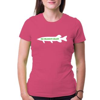 Rybáři Dámské tričko Na velikosti záleží