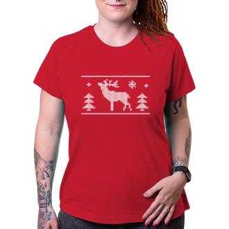 Vánoce Tričko s jelenem