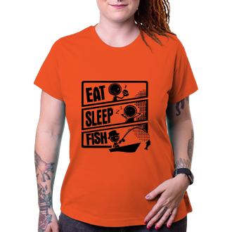 Rybáři Dámské tričko Eat, sleep, fish