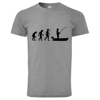 Rybáři Pánské tričko Evoluce rybáře