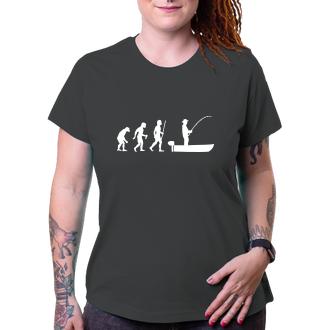 Rybáři Dámské tričko Evoluce rybáře