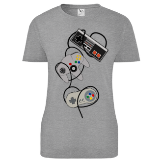 Gaming Dámské tričko Gamepad woman powa