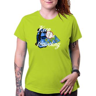 Cestování Dámské tričko Keep on traveling