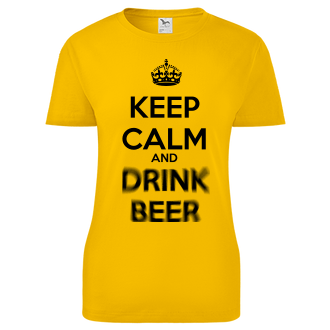 Dámské triko Keep calm and drink beer