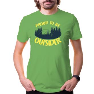 Cestování Cestovatelské tričko Outsider