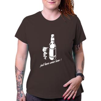 Alkohol Dámské tričko Medvídek Chmeláček