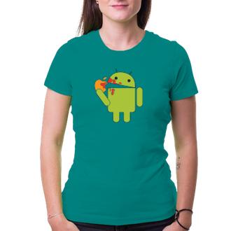 Dámské tričko Android eats Apple